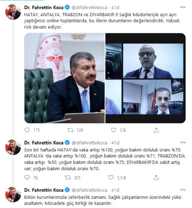 Sağlık Bakanı Fahrettin Koca 2 il için uyardı: Yüzde yüz vaka artışı var