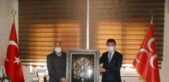 Van: AK Parti Van İl Başkanı Türkmenoğlu'ndan MHP'ye ziyaret