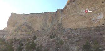 Karaman: Akdeniz açıklarındaki 5.2'lik deprem Karaman'da kayaları yerinden oynattı