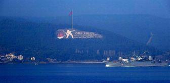 Çanakkale: Rus savaş gemileri peş peşe Çanakkale Boğazı'ndan geçti