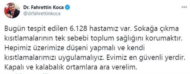 Son Dakika: Türkiye'de 5 Aralık günü koronavirüs nedeniyle 196 kişi vefat etti, 31 bin 896 yeni vaka tespit edildi