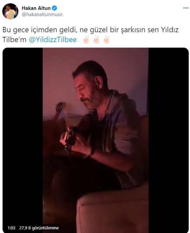 Yıldız Tilbe'den kendi şarkısını seslendiren Hakan Altun'a ilginç yorum: Ne oldu Gonca mı dövdü