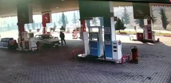 Elbistan: KAHRAMANMARAŞ - LPG'li otomobil, akaryakıt istasyonunda yandı