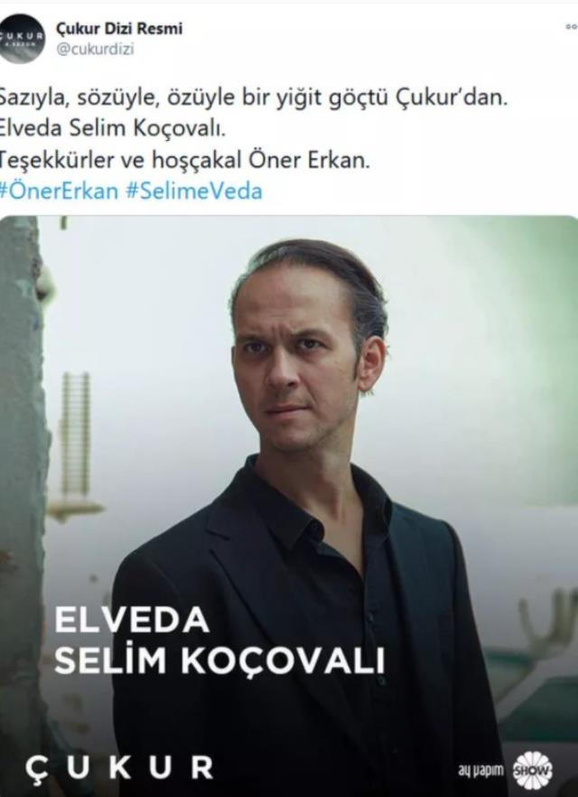Çukur'da duygusal veda! Başrol oyuncusu Öner Erkan diziden ayrıldı