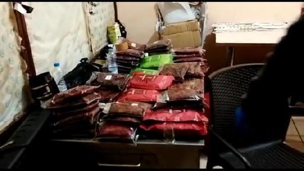 Kocaeli'de 1 ton 70 kilo kaçak nargile tütünü ele geçirildi