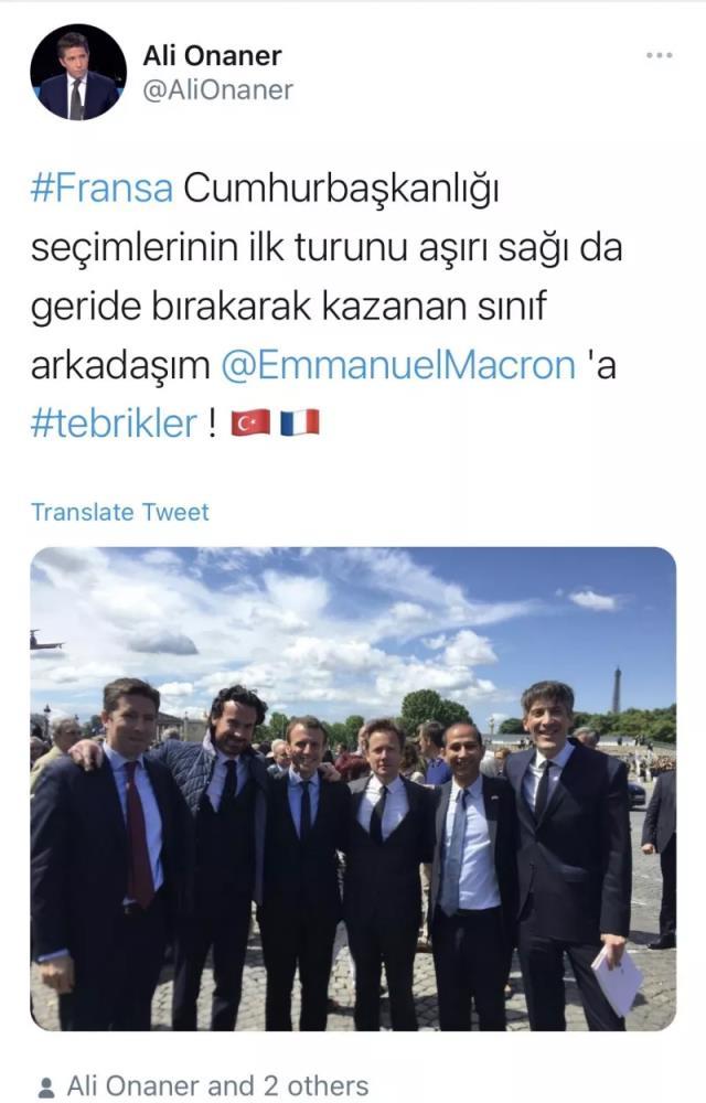 Cumhurbaşkanı Erdoğan, Paris Büyükelçiliği görevine Macron'un okul arkadaşı Ali Onaner'i atadı