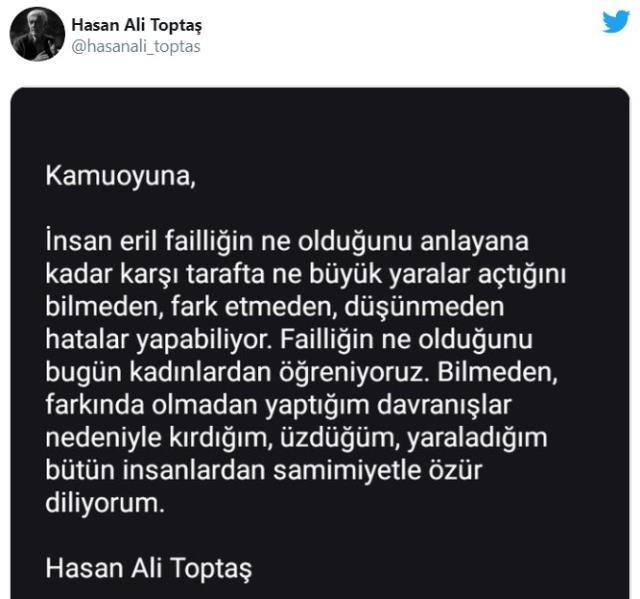 Hasan Ali Toptaş kimdir, nereli? Hasan Ali Toptaş açıklaması nedir?