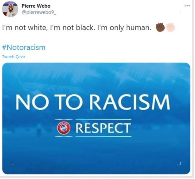 Irkçılığa maruz kalan Webo'nun sosyal medya paylaşımı: Sadece insanım