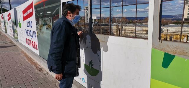 Belediyenin kurduğu 'şantiye izleme alanı'na vatandaşlardan büyük ilgi