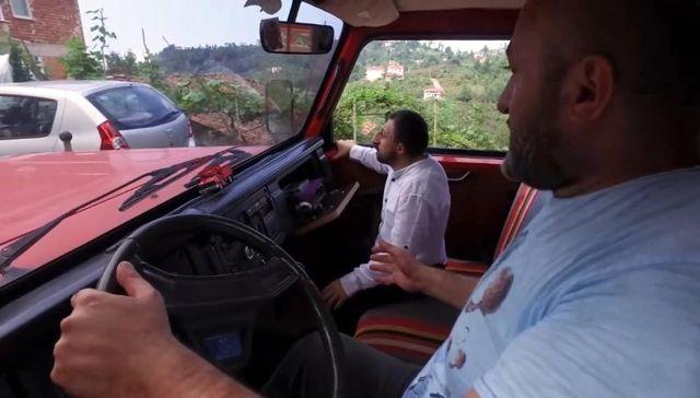 Köksal Baba'nın hayali gerçek oldu; kırmızı kamyonetine kavuştu