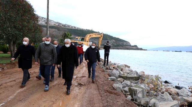 Başkan Büyükakın, Hereke Sahil Projesi'ni inceledi