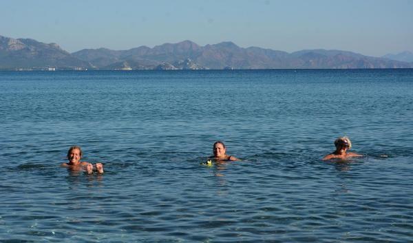 Datça'da aralıkta deniz keyfi