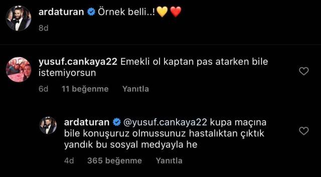 Galatasaray'ın kaptanı Arda Turan taraftarın 'Emekli ol' çağrısına tepki gösterdi