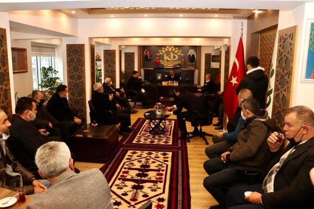 Son dakika haberleri: MHP İl Başkanı Yüksel, Başkan Cankul'u ziyaret etti