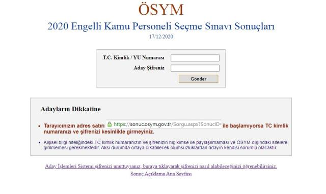 Son Dakika! EKPSS sınav sonuçları açıklandı! EKPSS sonuç görüntüleme ekranı