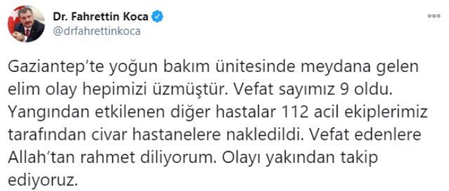 Son Dakika! Gaziantep'te bir hastanenin koronavirüs yoğun bakım servisinde oksijen tüpü patladı: 9 kişi hayatını kaybetti