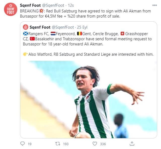 Ali Akman'ın Salzburg'a transferini duyuran Twitter hesabı sahte çıktı