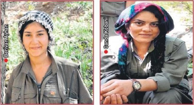 Tecavüze uğradıklarını söyleyen 5 kadın terörist üzerlerine el bombası atılarak öldürüldü