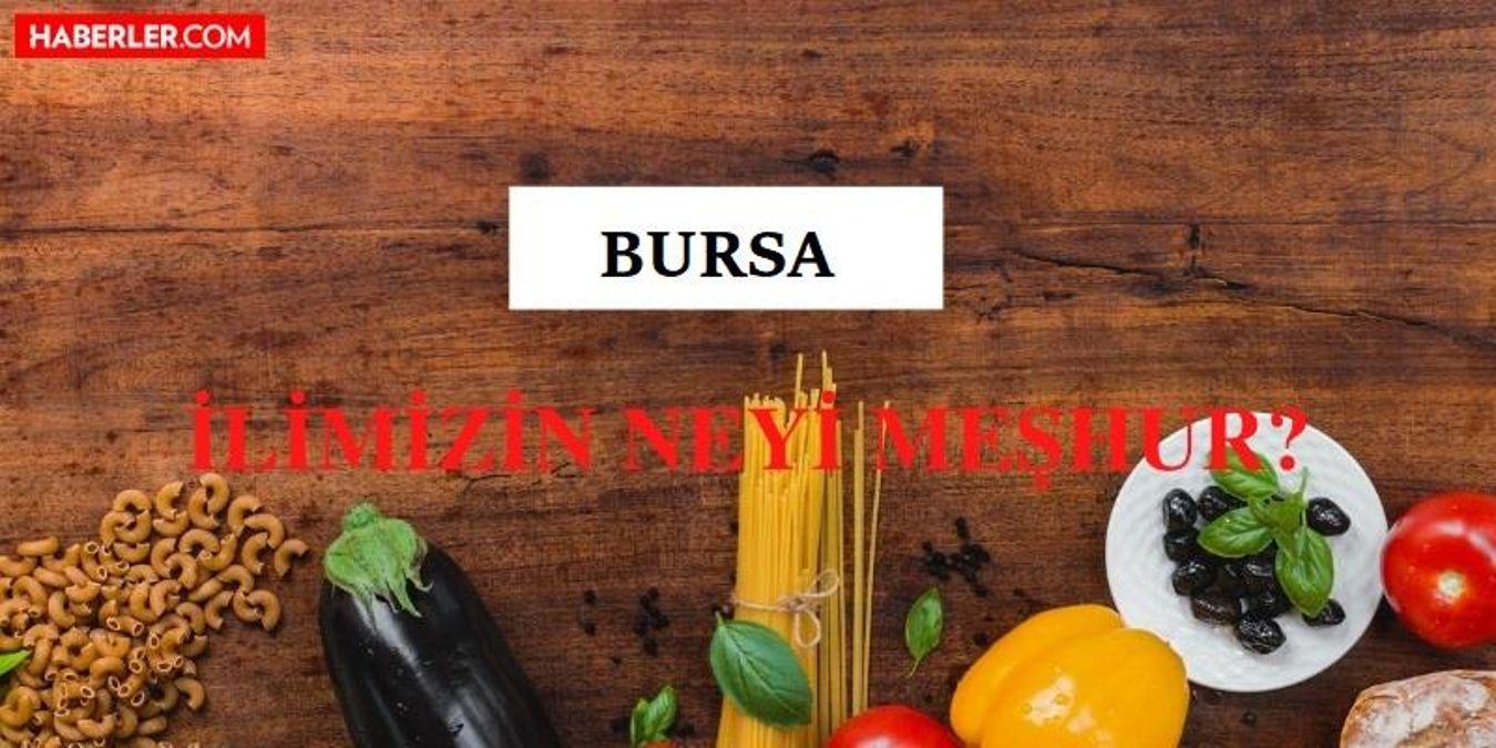 Bursa'nın neyi meşhur? Bursa'nın meşhur olan yiyecekleri ve içecekleri nelerdir? Bursa'nın nesi meşhur?