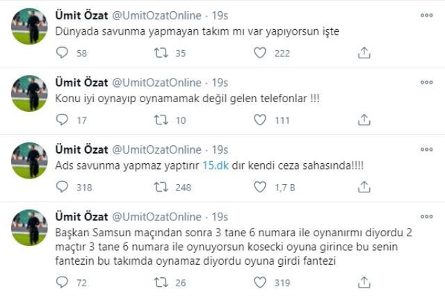 Ümit Özat'tan Adana Demirspor Başkanı Murat Sancak'a olay yaratan göndermeler