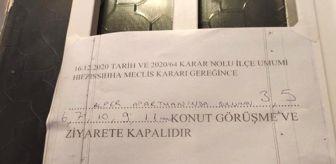 Şekerpınar: Korona virüs görülen apartmana bu not asıldı