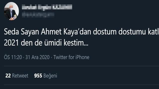 Ahmet Kaya şarkısı söyleyen Seda Sayan, sosyal medyada eleştiri bombardımanına tutuldu