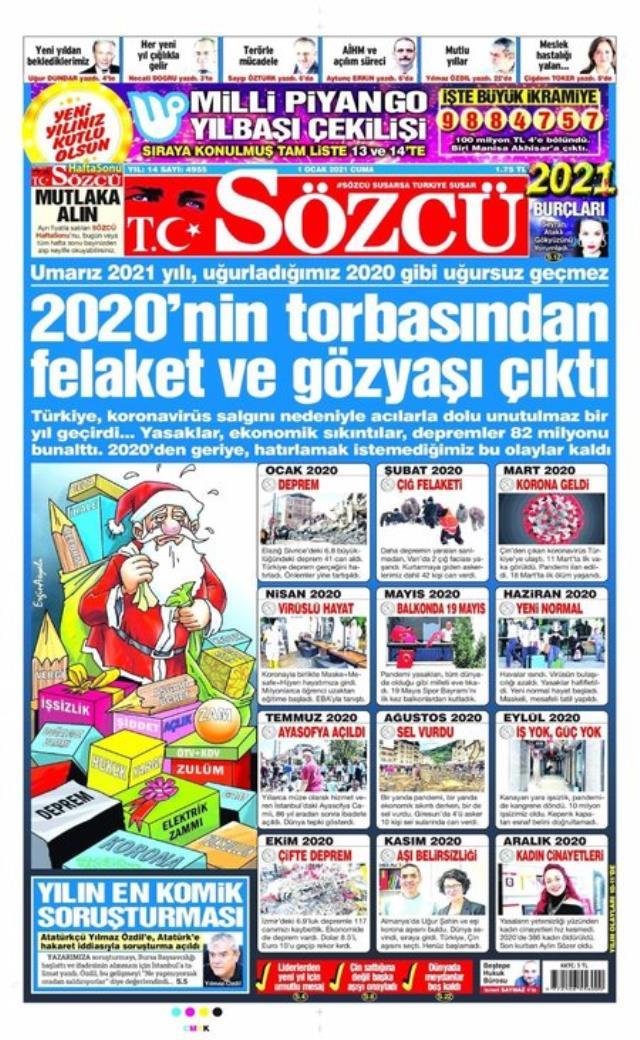 Son Dakika! Erdoğan'dan Sözcü gazetesinin manşetine tepki: Ben okumuyorum, kimse de para verip okumasın