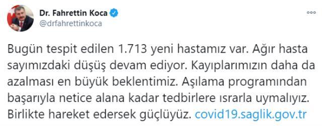 Son Dakika: Türkiye'de 2 Ocak günü koronavirüs nedeniyle 202 kişi vefat etti, 11 bin 180 yeni vaka tespit edildi