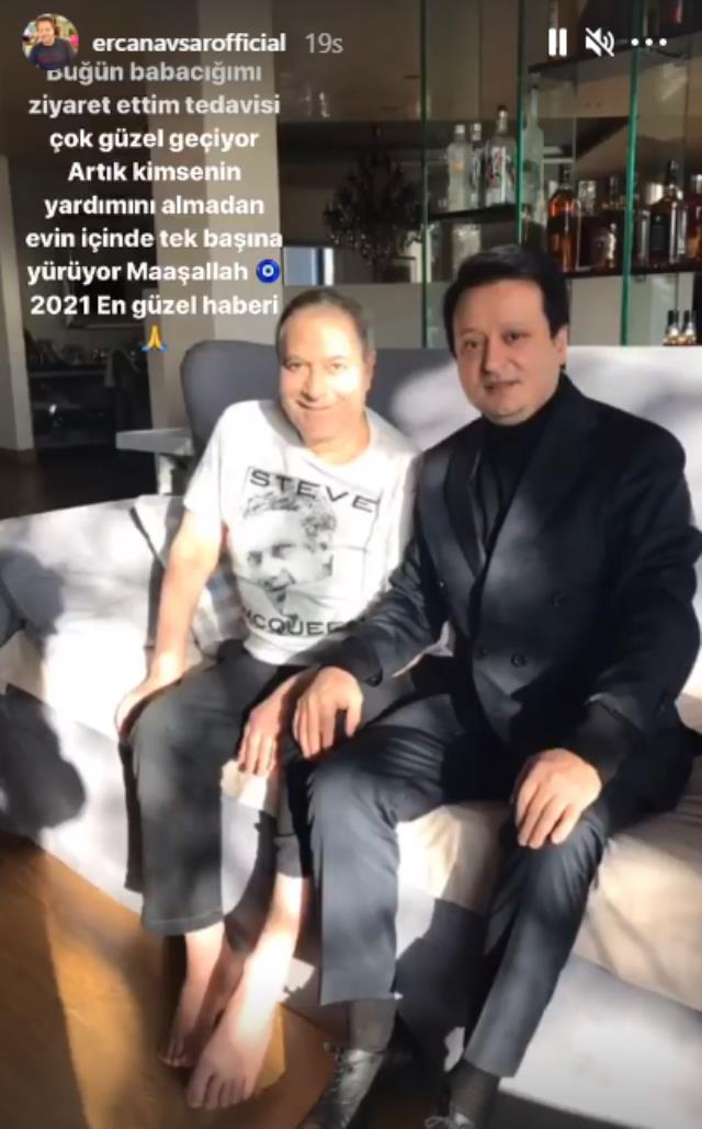 Mehmet Ali Erbil'den sevindiren haber! Artık destek almadan yürüyebiliyor