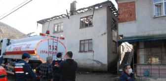 Derbent: Ev yandı, yaşlı kadın dumandan etkilendi