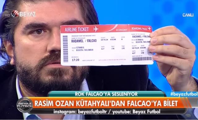 Rasim Ozan Kütahyalı, Falcao için uçak bileti aldı: Onurunla, şerefinle Türkiye'yi terk et