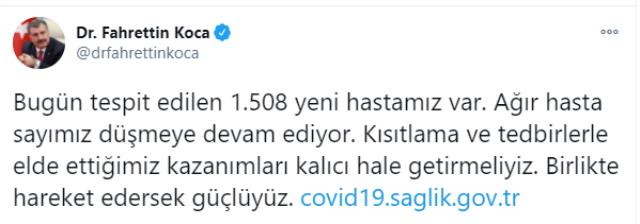 Son Dakika: Türkiye'de 4 Ocak günü koronavirüs nedeniyle 197 kişi vefat etti, 13 bin 695 yeni vaka tespit edildi
