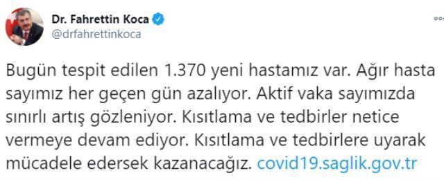 Son Dakika: Türkiye'de 7 Ocak günü koronavirüs nedeniyle 194 kişi vefat etti, 12 bin 171 yeni vaka tespit edildi