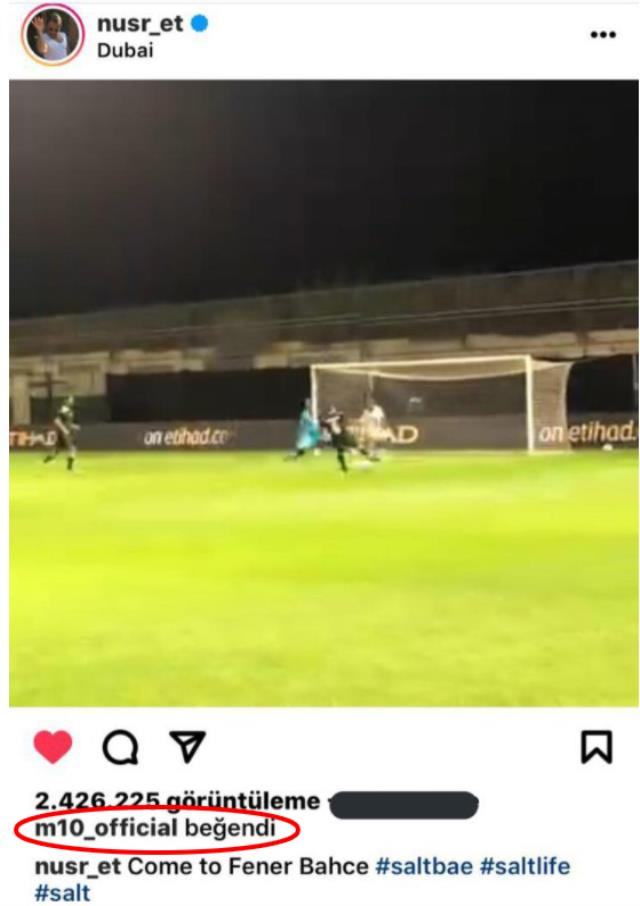 Mesut Özil liked the post about Fenerbahçe!  The fans went crazy