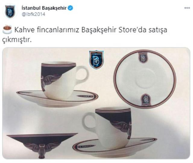 İrfan Can Kahveci from Başakşehir to Fatih Terim: Our coffee cups are on sale