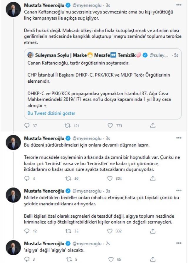DEVA Partisi'nden Soylu'ya Kaftancıoğlu tepkisi: Açıkça suç işliyor