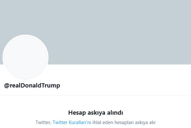 Twitter, Trump'ın hesabını kalıcı olarak askıya aldı