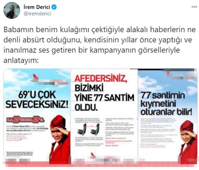 Mastürbasyon itirafından sonra babası tarafından uyarıldığı iddia edilen İrem Derici, haberleri yine kendi tarzıyla yalanladı