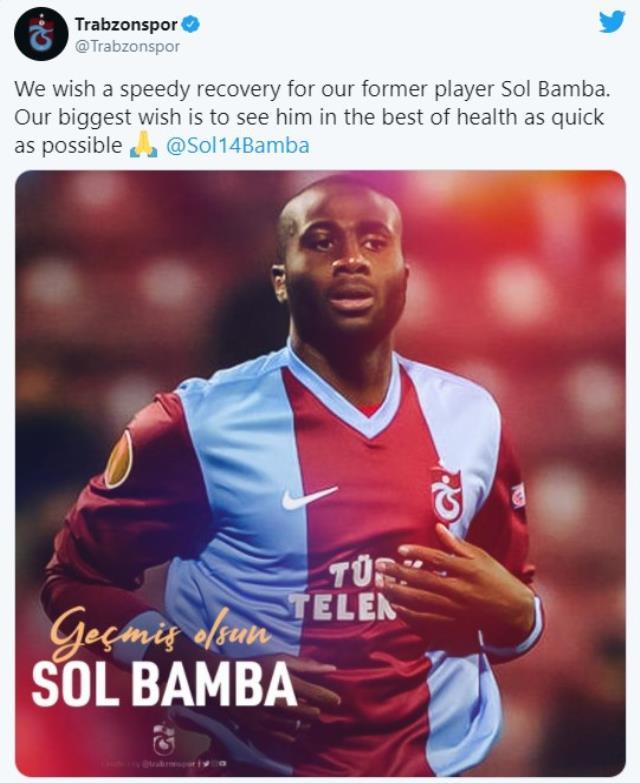 Eski Trabzonsporlu Sol Bamba, lenf kanserine yakalandı