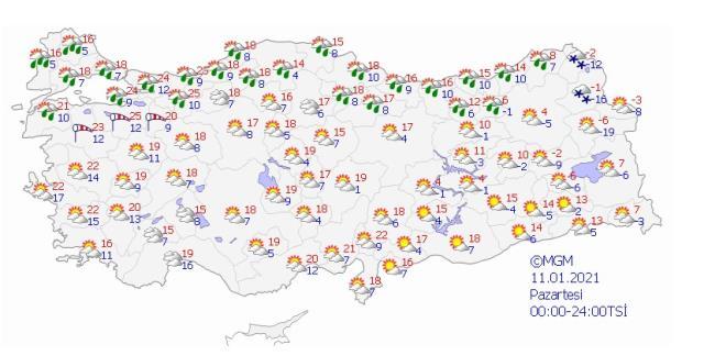 Meteoroloji'den 24 ile sağanak yağış uyarısı