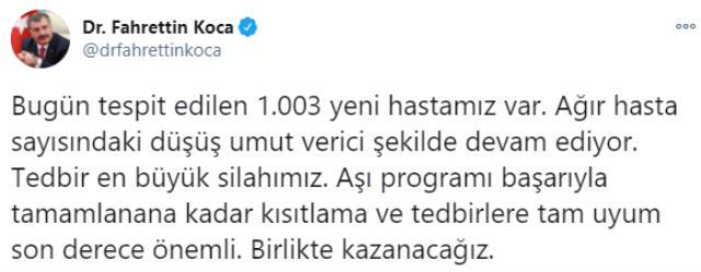 Son Dakika: Türkiye'de 11 Ocak günü koronavirüs nedeniyle 174 kişi vefat etti, 10 bin 220 yeni vaka tespit edildi