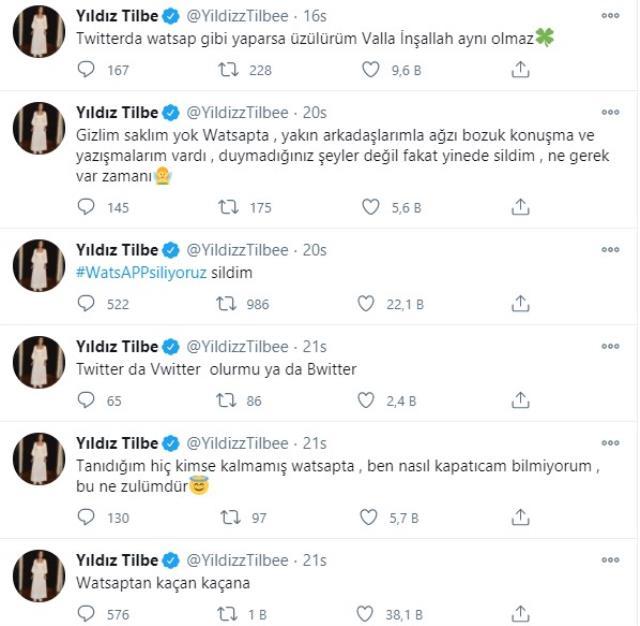Ünlü şarkıcı Yıldız Tilbe, de WhatsApp uygulamasını sildi