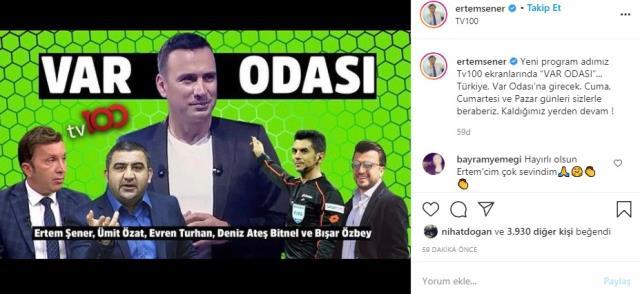 Beyaz TV'den olaylı bir şekilde ayrılan Ertem Şener, tv100 ile anlaştı