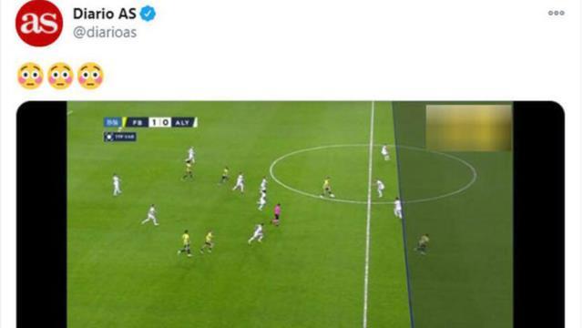 Fenerbahçe-Alanyaspor maçındaki VAR çizgisi dünya basınının gündeminde