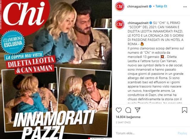 İtalyan spor spikeri Diletta Leotta, Türk aktör Can Yaman ile yakalandı
