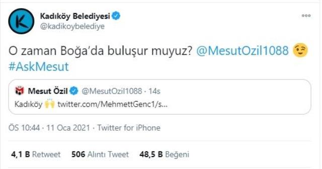 The municipality's response to Mesut Özil's response in Kadıköy: Will we meet in Taurus?