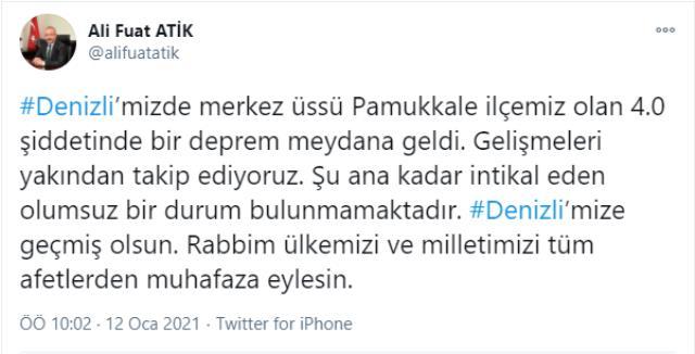 Son Dakika! Türkiye beşik gibi sallanıyor! Ankara'dan sonra Denizli'de 4 büyüklüğünde deprem