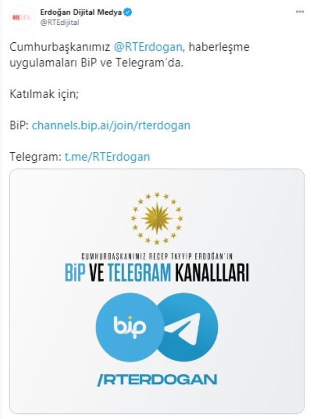 WhatsApp'ın tepki çeken kararı sonrası Erdoğan BİP ve Telegram'a katıldı
