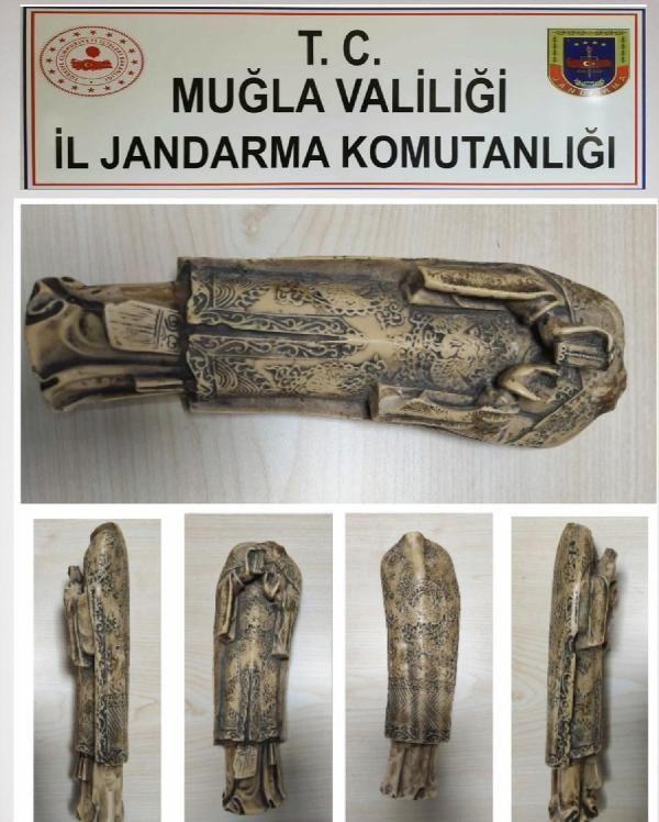 Fethiye'de çifte tarihi eser operasyonu: 2 gözaltı