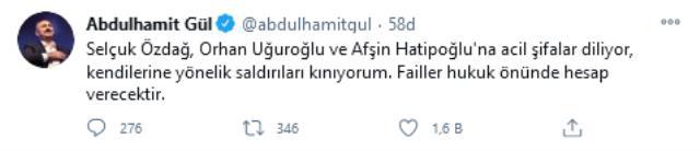 Son dakika politika: Adalet Bakanı Gül'den, saldırıya uğrayan Özdağ, Uğuroğlu ve Hatipoğlu'na acil şifa dileği